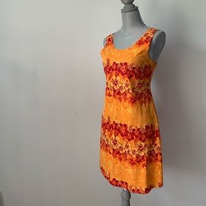 Vintage 70s Orange Day Dress